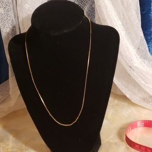"Jewelry - 18"" 14k  Gold  Serpentine Necklace"